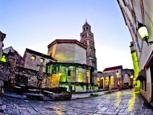 Diocletian's Palace - UNESCO world heritage site in Split Croatia - Saint Domnius Cathedral