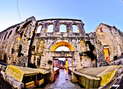 Diocletian's Palace - UNESCO world heritage site in Split Croatia - Eastern Gate