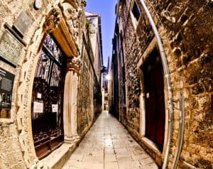 Diocletian's Palace - UNESCO world heritage site in Split Croatia - Streets of Split Old Town