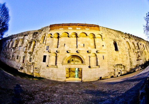 Diocletian's Palace - UNESCO world heritage site in Split Croatia - Golden Gate