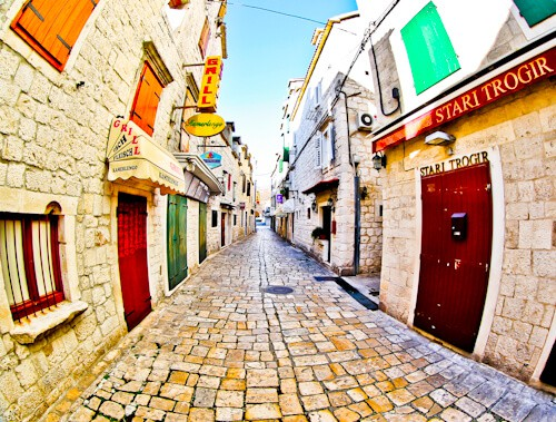 Trogir - A day trip from Split Croatia to the UNESCO city - Streets of old town Trogir