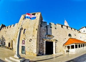 Trogir - A day trip from Split Croatia to the UNESCO city - South Town Gate