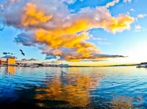 Split Croatia - Things to do in Split - Bay of Split at sunset