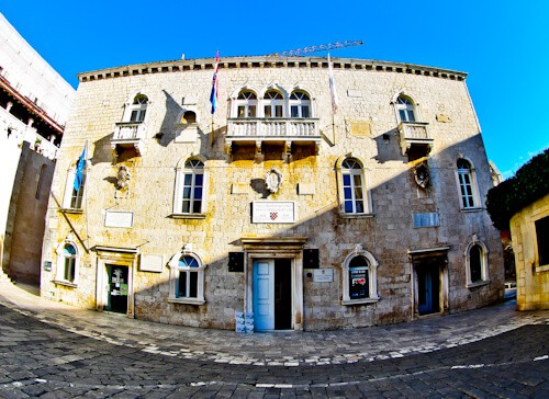 Trogir - A day trip from Split Croatia to the UNESCO city - City Hall (Duke's Palace)