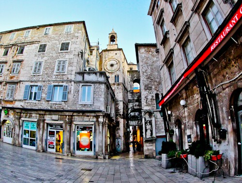 Diocletian's Palace - UNESCO world heritage site in Split Croatia - Iron Gate