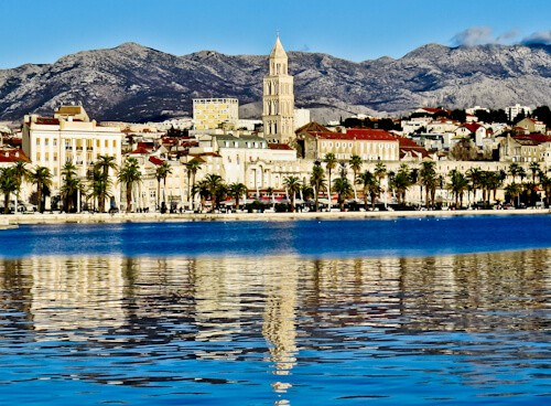 Diocletian's Palace - UNESCO world heritage site in Split Croatia - panoramic