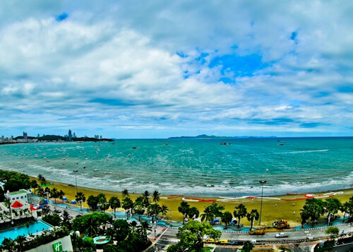 Pattaya Hotels - Amari Ocean Beach Road - A Room with a View - Beach Road and Pattaya Beach