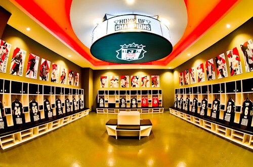 Besiktas FC Stadium and Museum Tour - Home Team Dressing Rooms