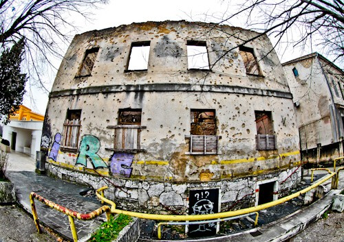 Mostar - Things to do in Mostar - Destroyed Buildings with Bullet Holes