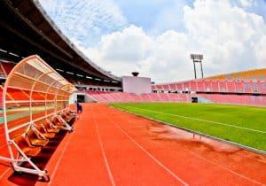 Rajamangala National Stadium and Museum Tour, Bangkok - Pitch Side