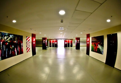 Antalyaspor Stadium Tour, Antalya Turkey - Players Tunnel