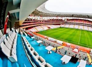 Antalyaspor Stadium Tour, Antalya Turkey - Media Seats