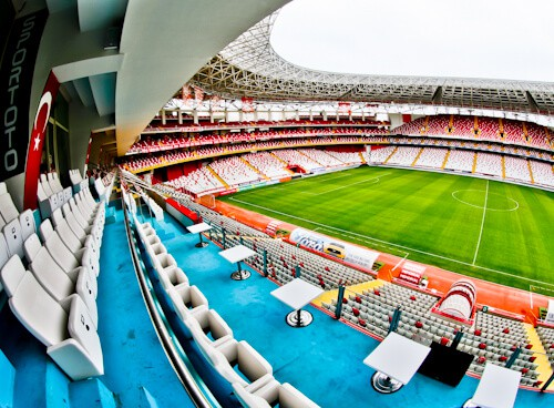 Antalyaspor Stadium Tour, Antalya Turkey - VIP Seats