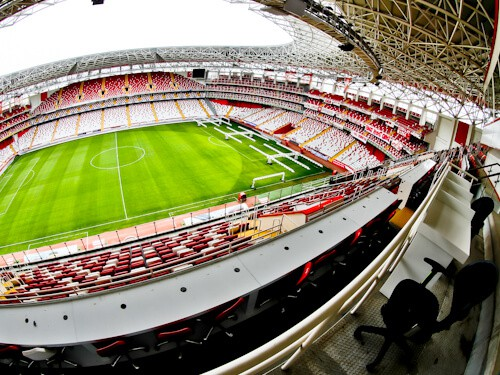Antalyaspor Stadium Tour, Antalya Turkey - Media Section