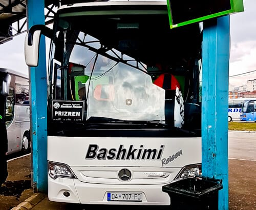 How to get from Pristina to Prizren Kosovo - intercity bus