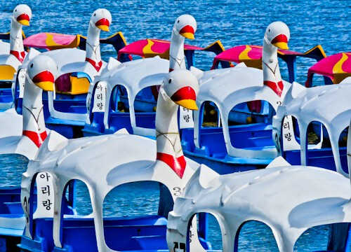 Gangnam Style filming locations in Seoul, South Korea - Swan Boats