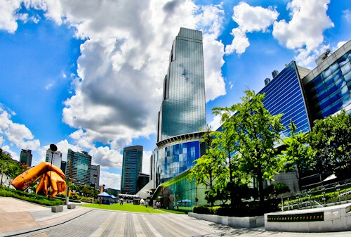 Gangnam Style filming locations in Seoul, South Korea - Trade Tower
