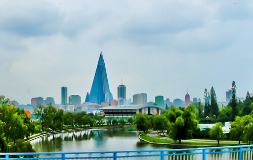Hotel Ryugyong - Pyongyang North Korea - location