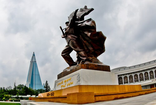 Hotel Ryugyong - Pyongyang North Korea - Photographed from the war museum