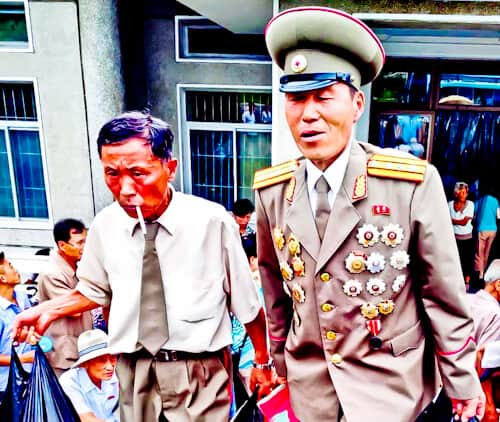 People Photography in North Korea - Veteran north Korean Soldier