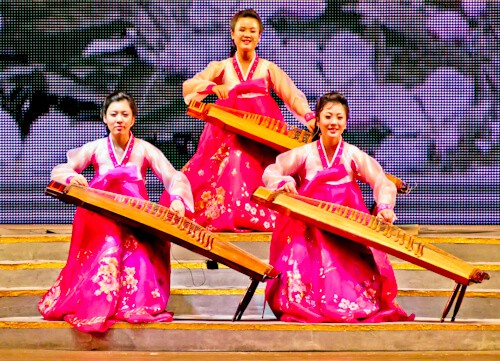 People Photography in North Korea - Musicians in a show