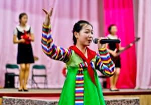 People Photography in North Korea - Practising musicians in school