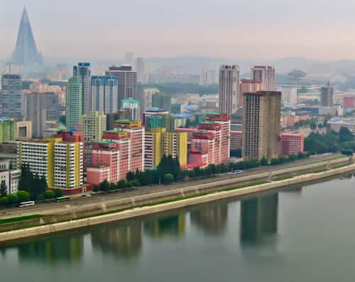 Hotel Yanggakdo - Pyongyang hotel North Korea - A Room with a view