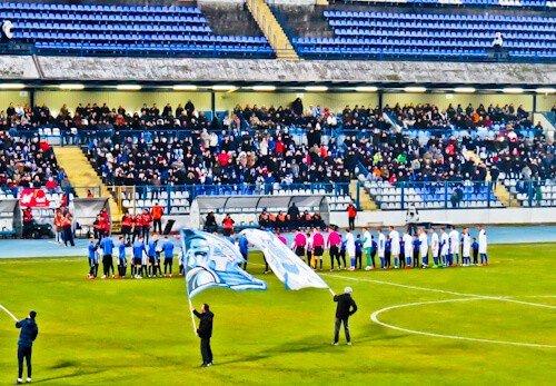 NK Osijek - Matchday Experience - Stadion Gradski vrt / Stadium - Pre Match Line Up