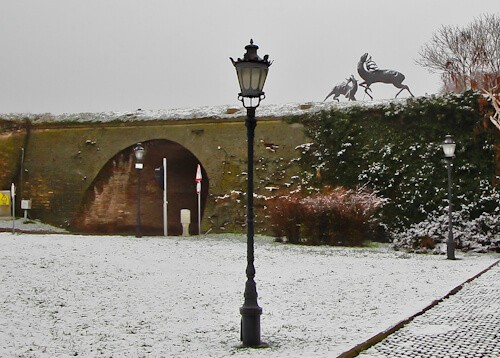 Petrovaradin Fortress and Underground Tunnels, Novi Sad, Serbia - Fight of Deer sculpture