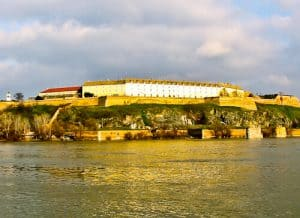 Petrovaradin Fortress and Underground Tunnels, Novi Sad, Serbia - Panoramic view from Novi Sad