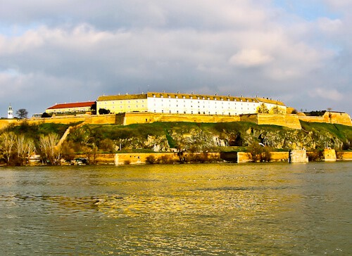 Petrovaradin Fortress and Underground Tunnels, Novi Sad, Serbia - Panoramic view from Novi Sad
