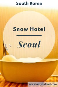 Snow Hotel Seoul, South Korea. The most Instagram worthy hotel in Seoul!