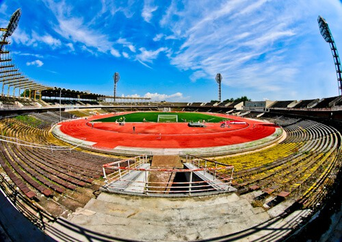 Plovdiv Abandoned Stadium Tour, Bulgaria - Stadium