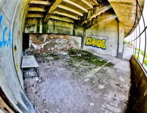 Plovdiv Abandoned Stadium Tour, Bulgaria - Dressing Rooms