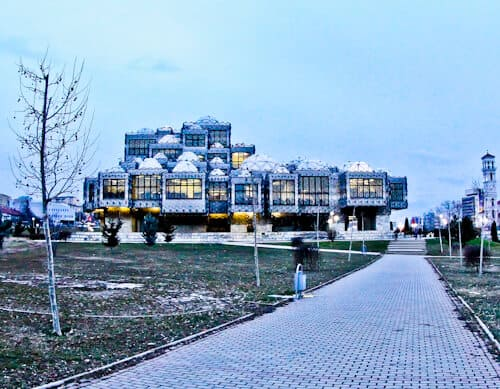 Things to do in Pristina Kosovo - National library of Kosovo