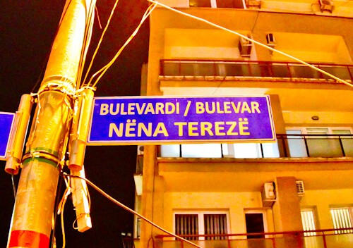 Things to do in Pristina Kosovo - Mother Teresa Boulevard