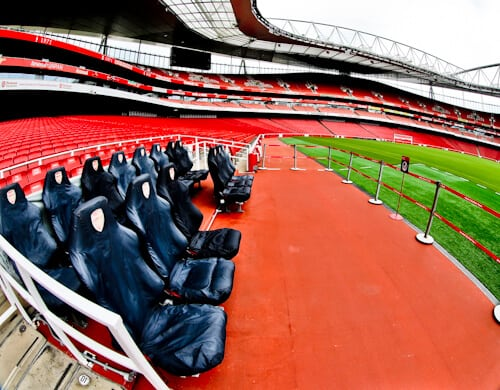 Arsenal Stadium Tour - What is it like to tour Emirates Stadium and Arsenal museum? Pitch Side