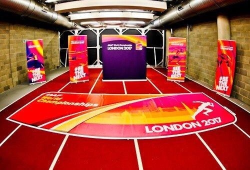 West Ham Stadium Tour - London Stadium - Indoor Athletics Warm Up Area