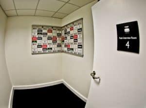 West Ham Stadium Tour - London Stadium - Flash Interview Room