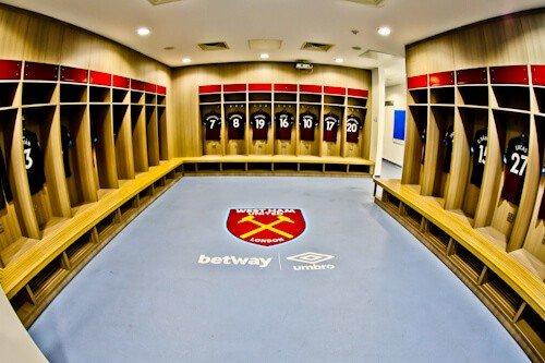 West Ham Stadium Tour - London Stadium - Home Team Dressing Room