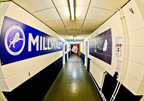 Millwall Stadium Tour - The Den, Millwall FC Ground - Players Tunnel