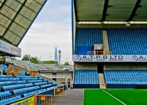 Millwall Stadium Tour - The Den, Millwall FC Ground - Stadium with a view of the Shard