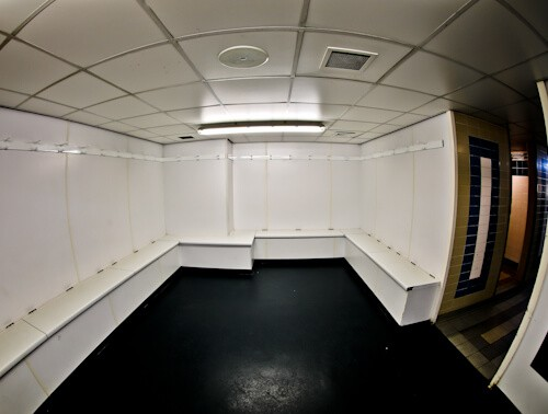 Millwall Stadium Tour - The Den, Millwall FC Ground - Away team dressing room