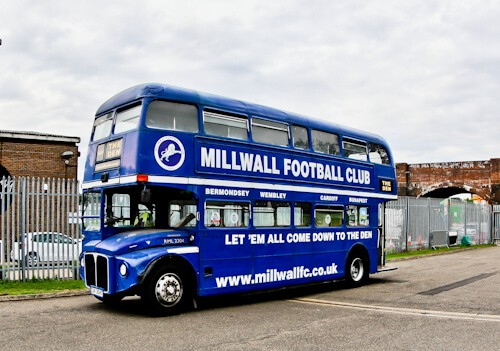 Millwall Stadium Tour - The Den, Millwall FC Ground - Double Decker Bus
