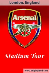 Arsenal Stadium Tour - A tour of the Emirates Stadium and Arsenal Museum in North London.
