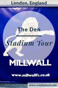 Millwall Stadium Tour - What is it like to take a tour of the Millwall FC Ground, The Den? I share photos of the stadium, the changing rooms, the VIP lounge, players tunnel and pitch side.