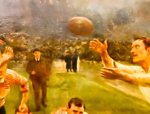 Twickenham Stadium Tour review with pictures - Presidential Suite - The ghost in the painting