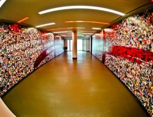 Twickenham Stadium Tour review with pictures - Players tunnel