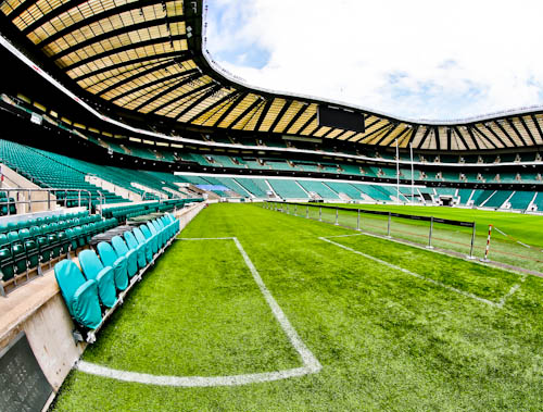 Twickenham Stadium Tour review with pictures - Pitch Side at Twickenham Rugby Stadium