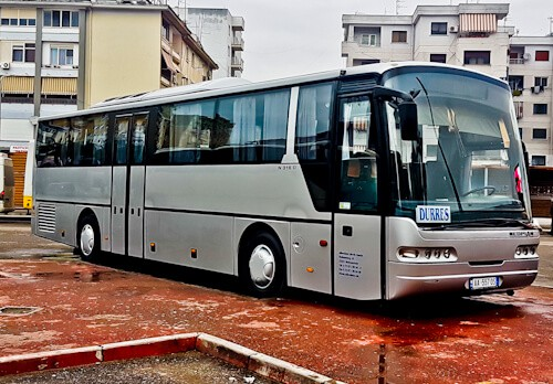 How to get from Tirana to Durres by bus